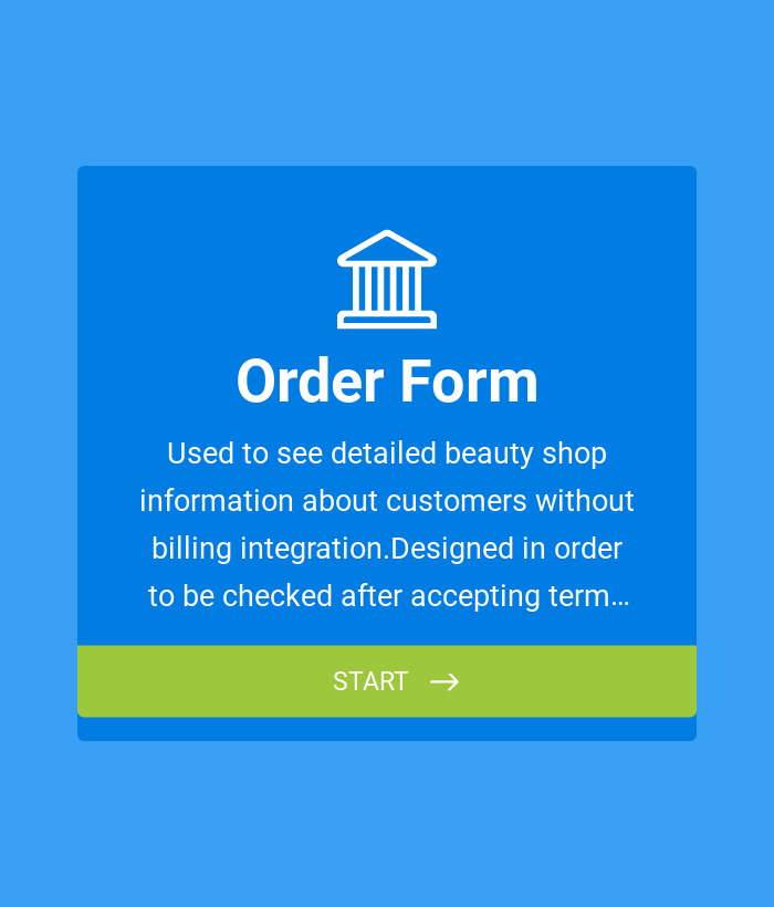 Order Form Without Payment Integration
