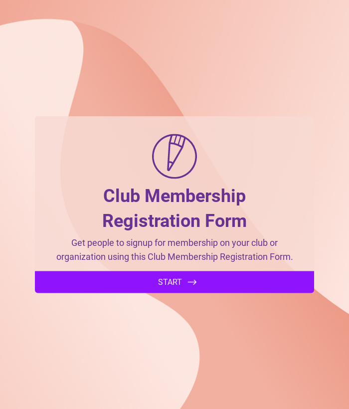 Club Membership Registration Form