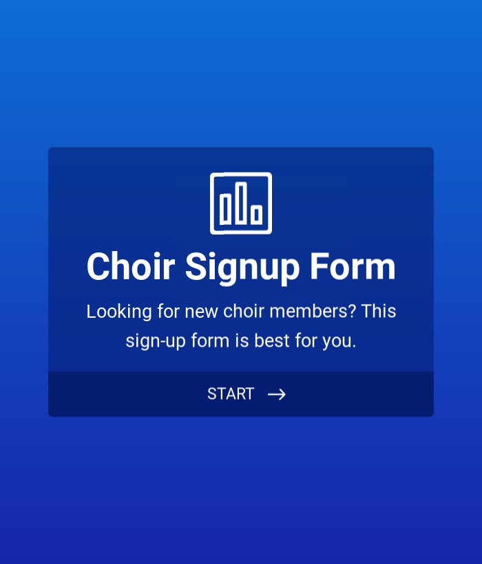 Choir Signup Form