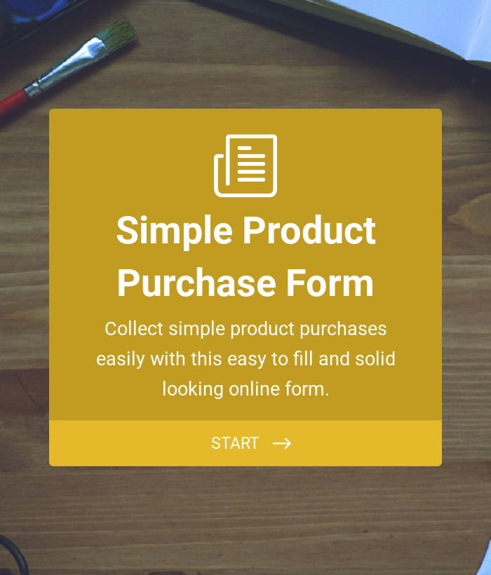 Simple Product Purchase Form