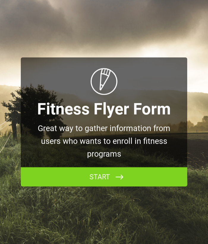Fitness Flyer Form