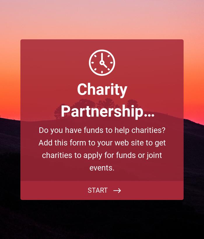 Charity Partnership Application Form