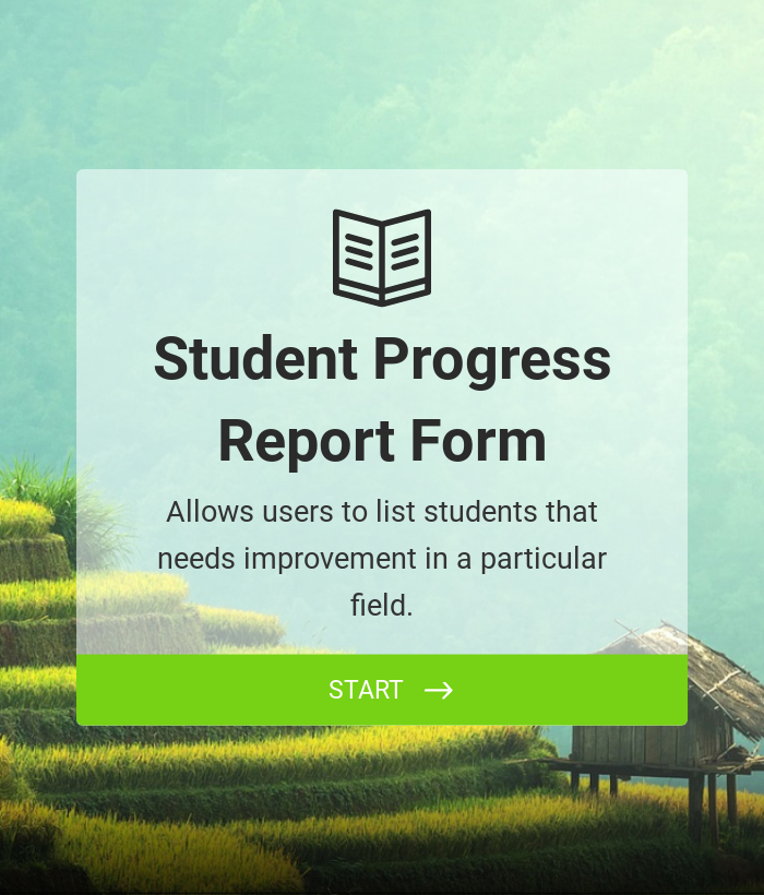 Student Progress Report Form