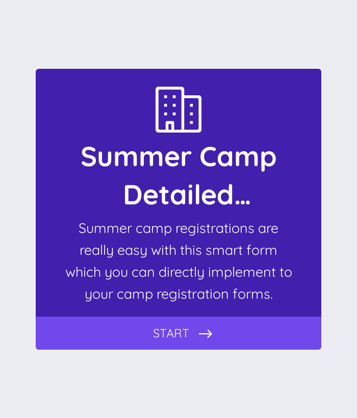 Summer Camp Detailed Registration Form