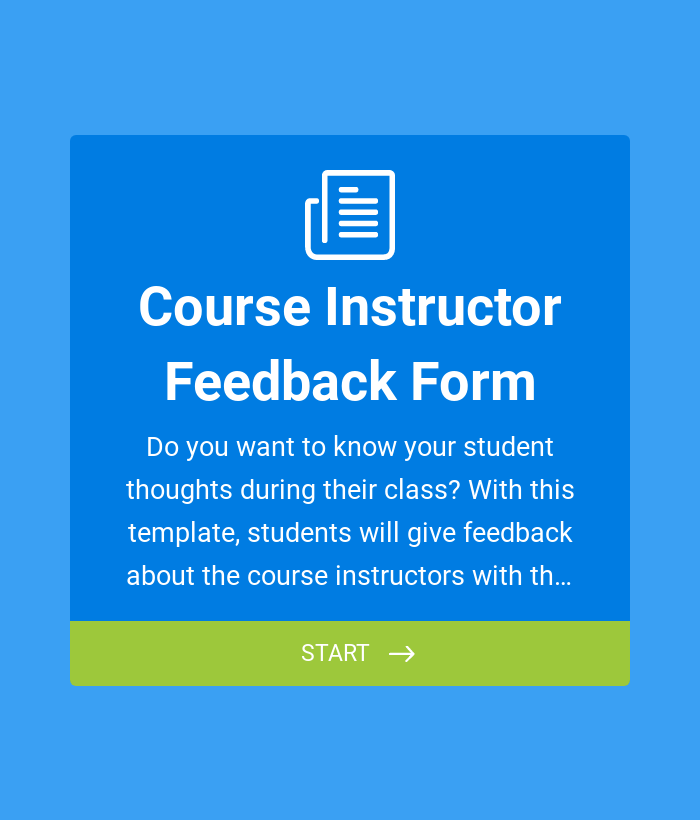 Course Instructor Feedback Form