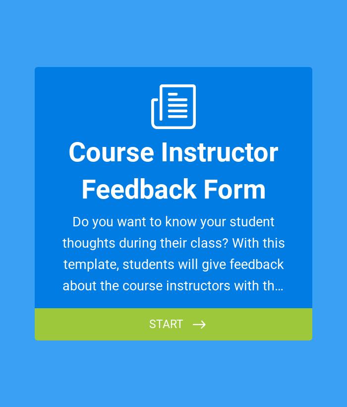 Course Instructor Feedback Form