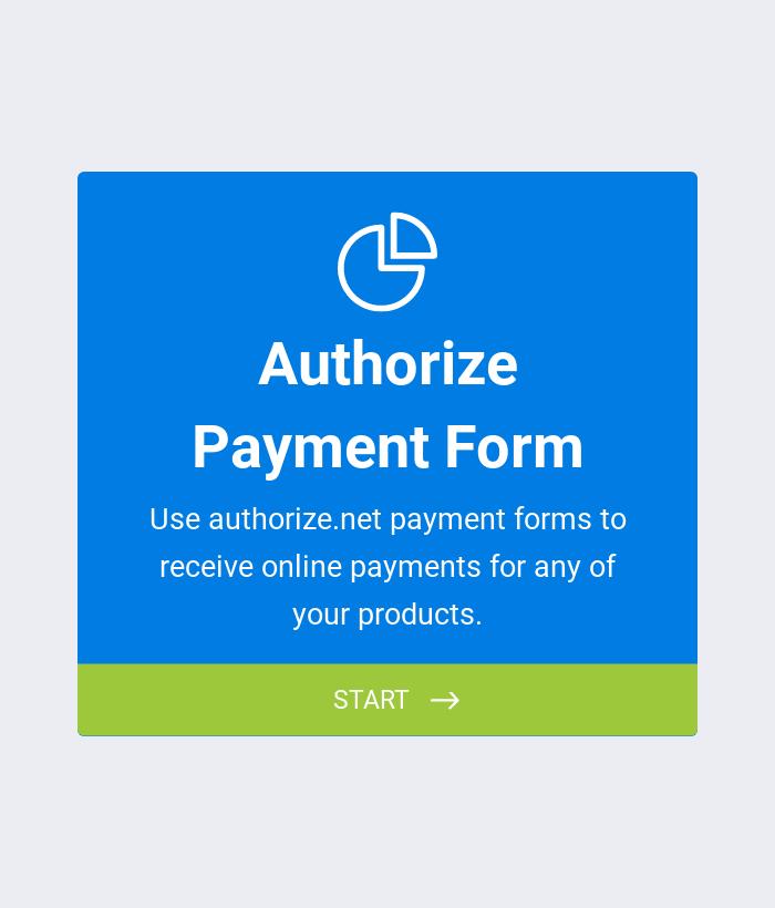 Authorize Payment Form