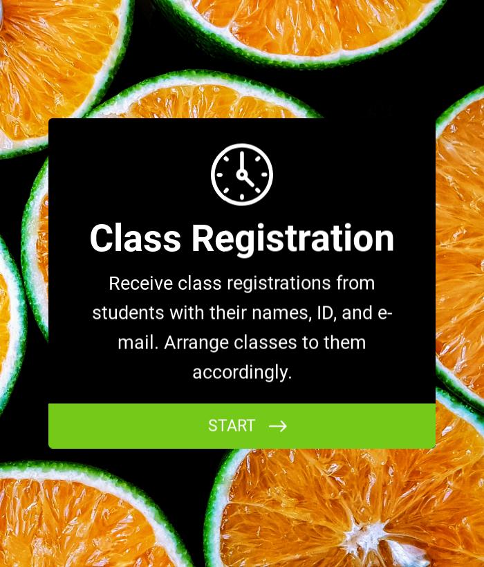 Class Registration