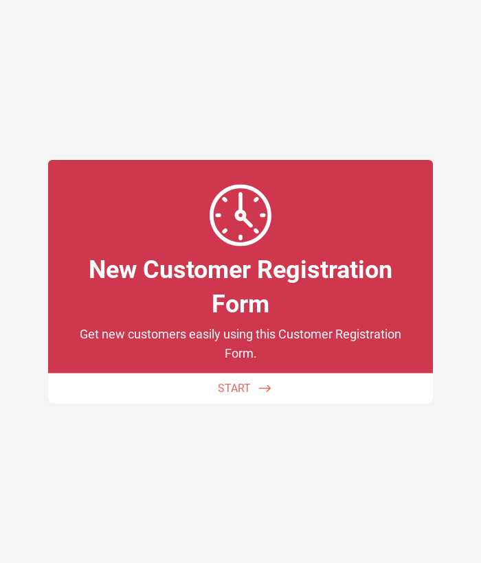 New Customer Registration Form