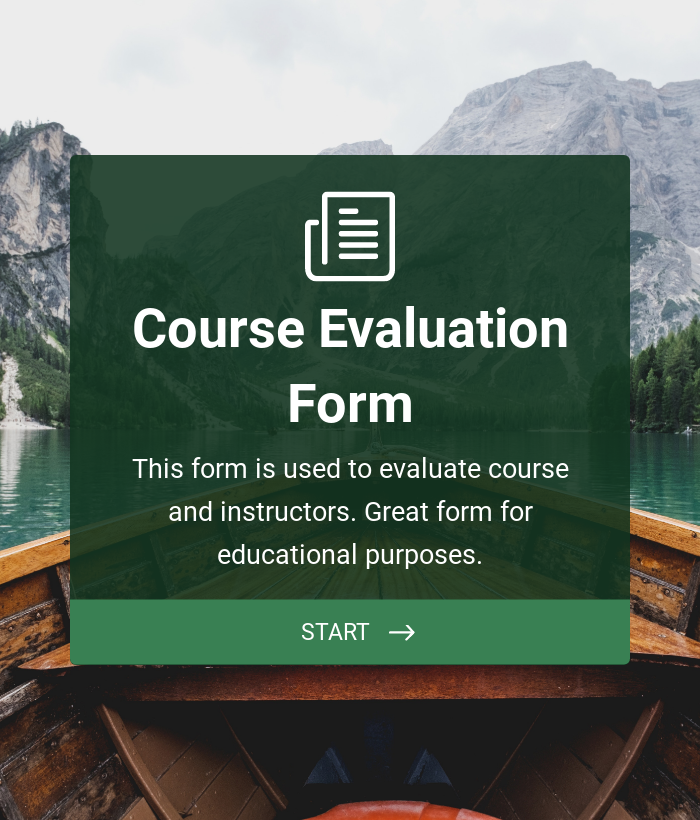 Course Evaluation Form