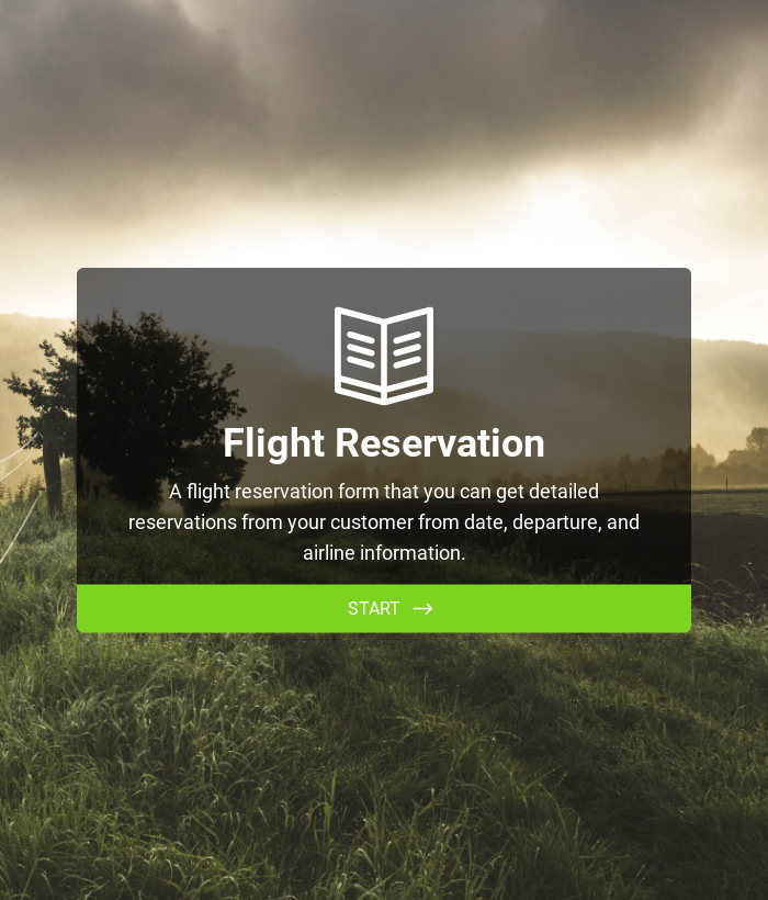Flight Reservation Form
