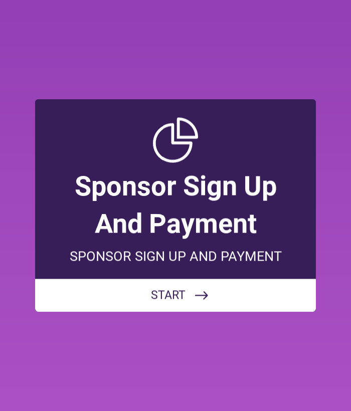 SPONSOR SIGN UP AND PAYMENT