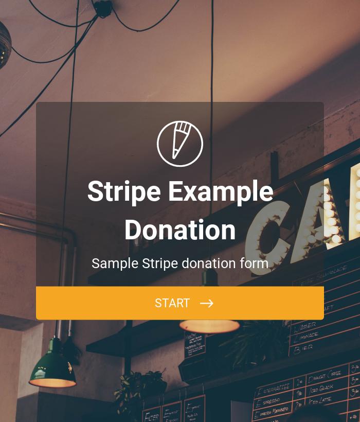 Stripe Example: Donation