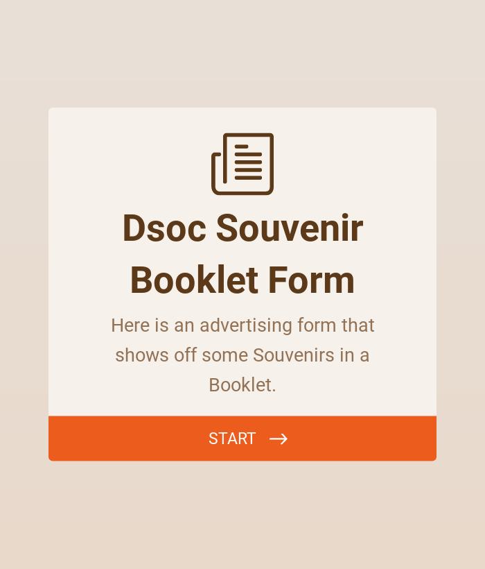 Souvenir Booklet Advertising Form