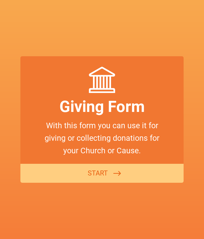 Church Donation Giving Form