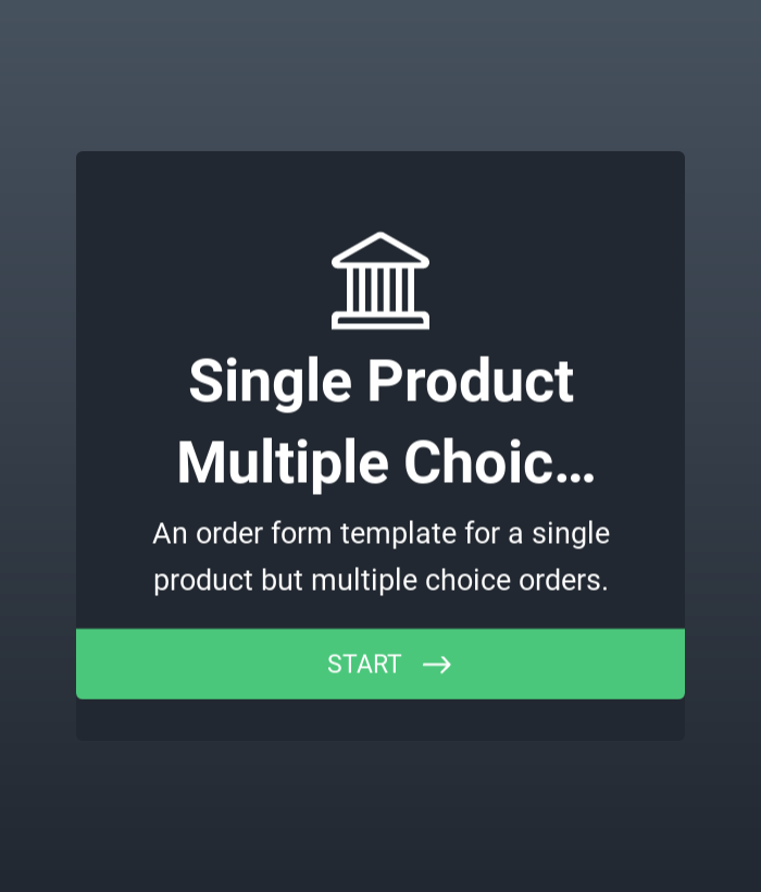 Single Product Multiple Choice Orders