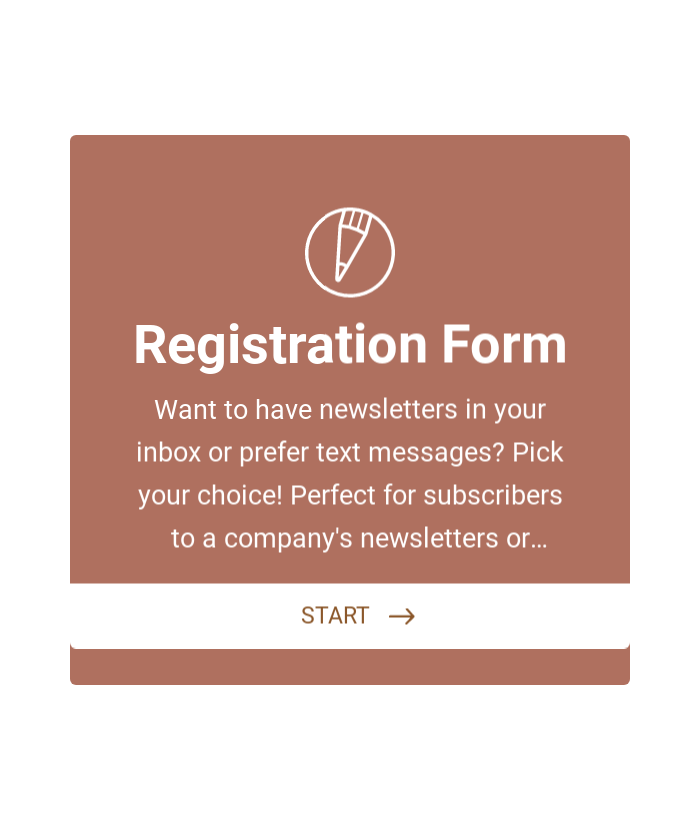 Customer Registration Form with Newsletter Subscription.