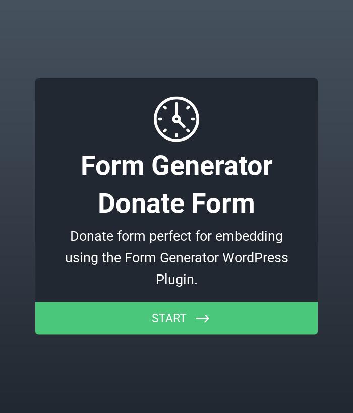 Form Generator | Donate Form