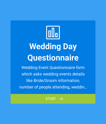 Wedding Day Questionnaire Form