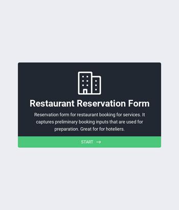 Restaurant Reservation Form