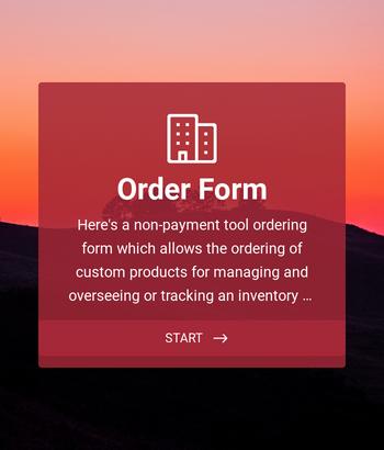 Custom Simple Order Form