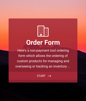Custom Simple Order Form
