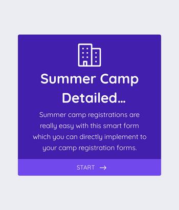 Summer Camp Detailed Registration Form