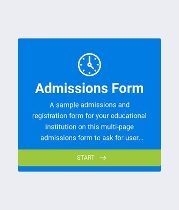 College Admission Form