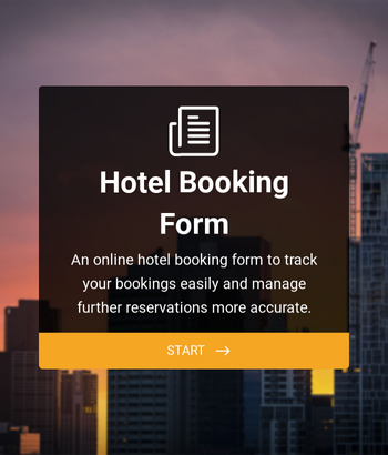 Hotel Booking Form