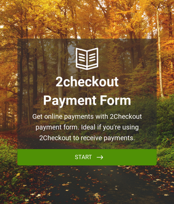 2Checkout Payment Form