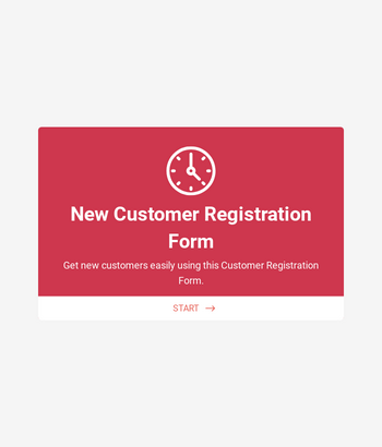 New Customer Registration Form