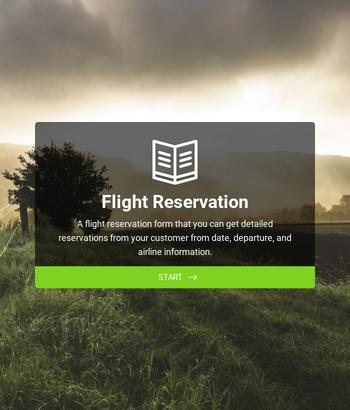 Flight Reservation Form