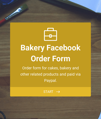 Bakery Facebook Order Form