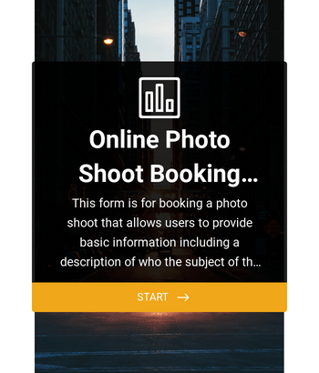 Online Photo Shoot Booking Form