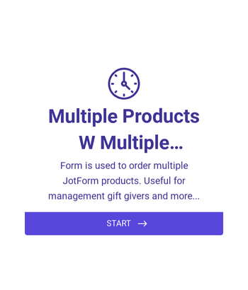 Multiple Products Order Form