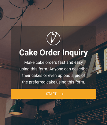 Cake Order Inquiry Form