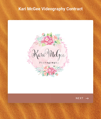 Kari McGee Videography Contract