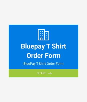 BluePay T-Shirt Order Form