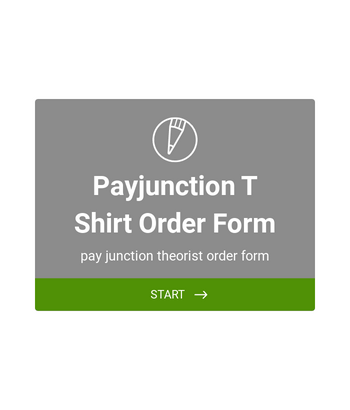 PayJunction T-Shirt Order Form