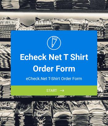 eCheck.Net T-Shirt Order Form