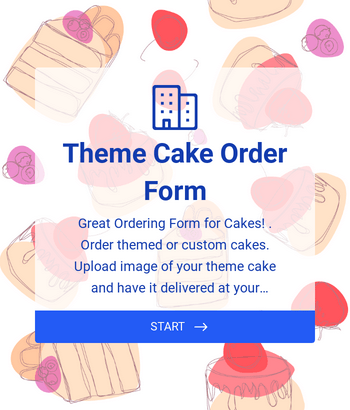 Theme Cake Order Form - PagSeguro