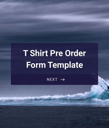 T Shirt Pre Order Form Template