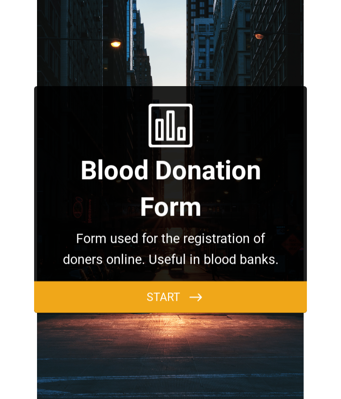 Blood Donation Form