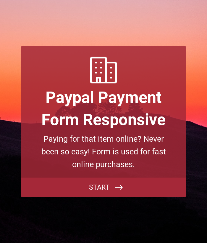 Responsive Paypal Payment Form