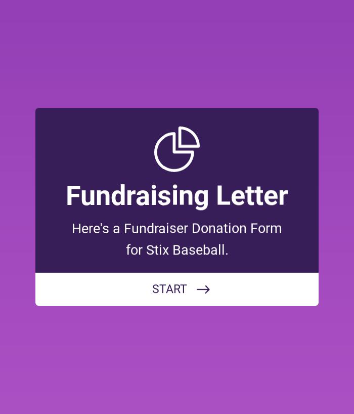 Baseball Fundraising Form
