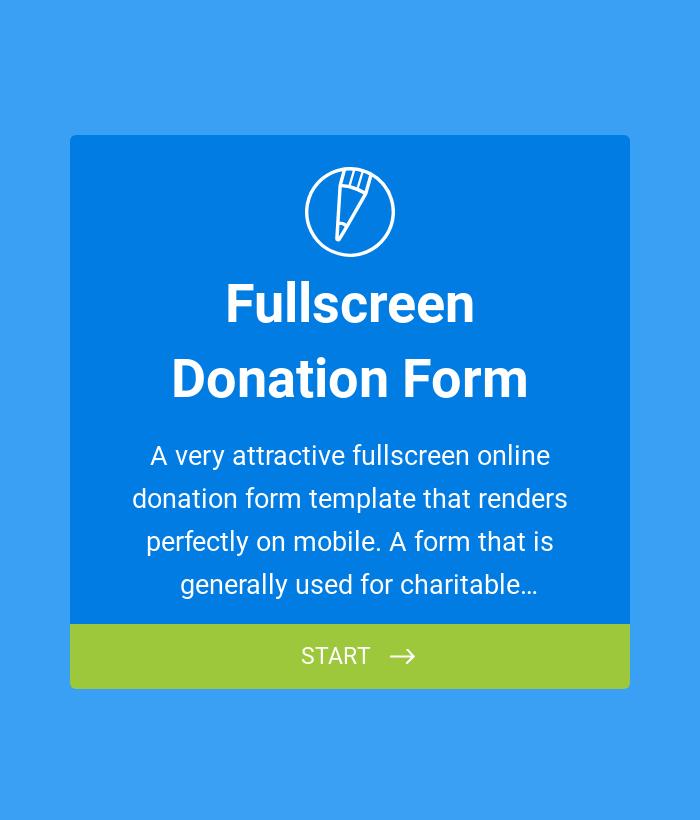 Fullscreen Donation Form