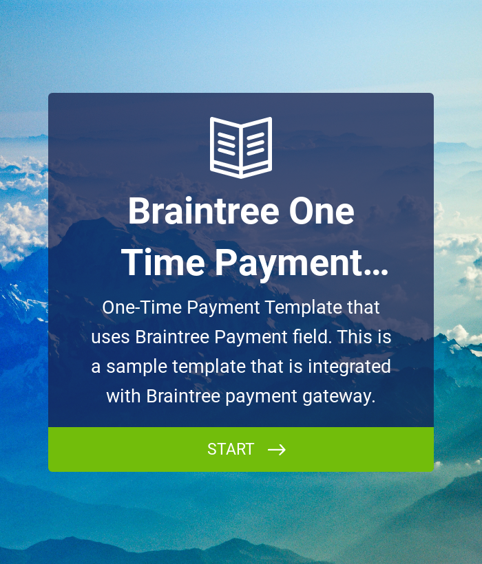 Braintree - One-Time Payment Template