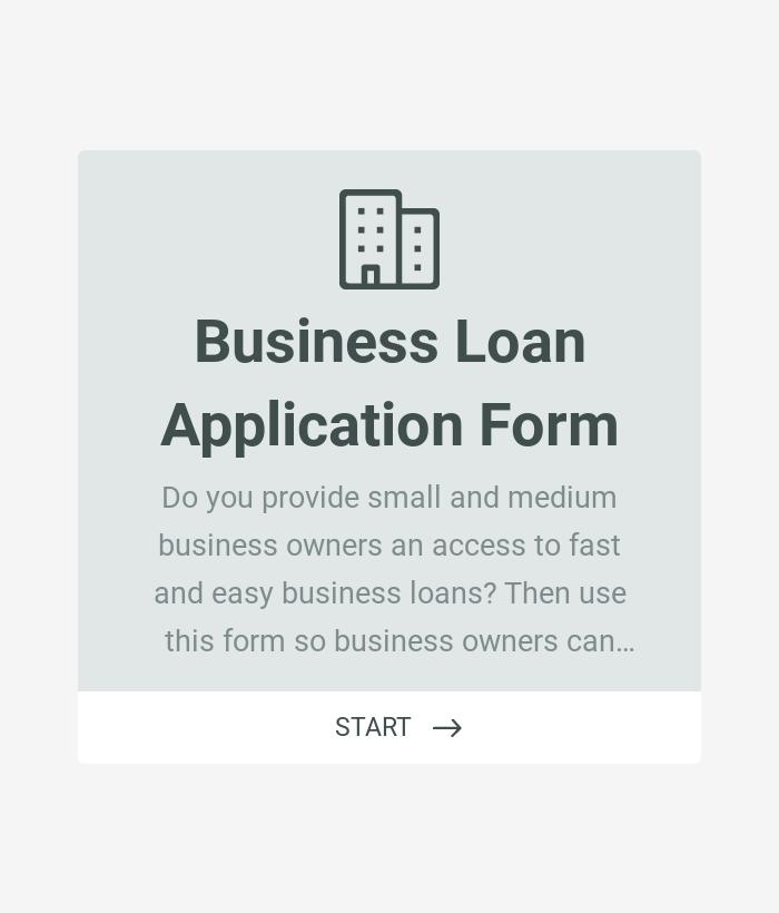 Business Loan Application Form