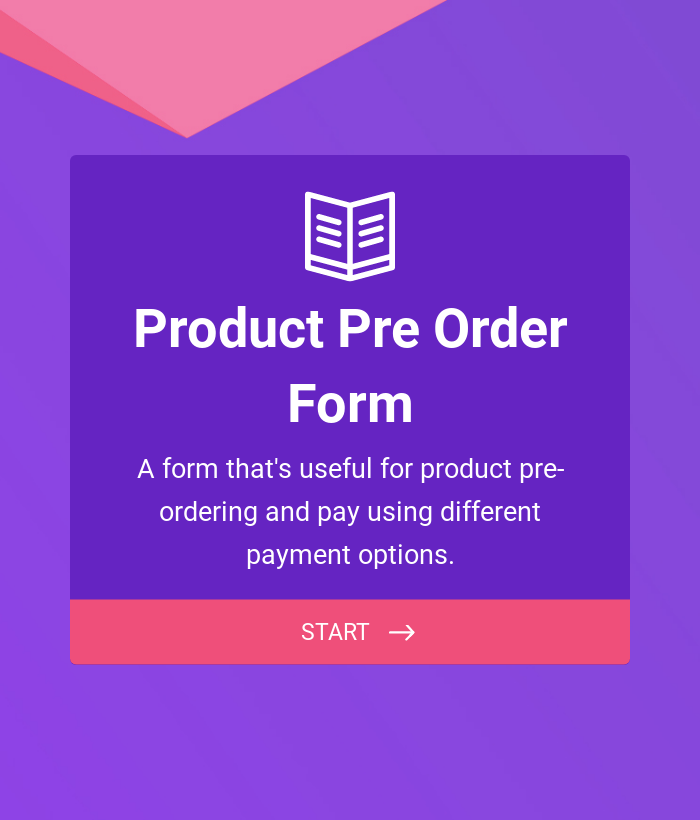 Product Pre-Order Form