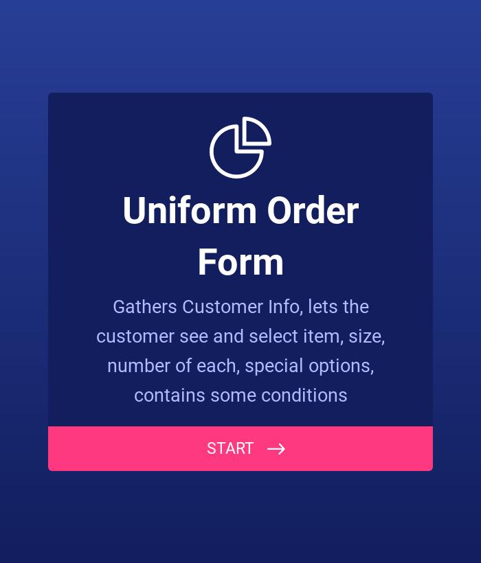 Uniform Order Form